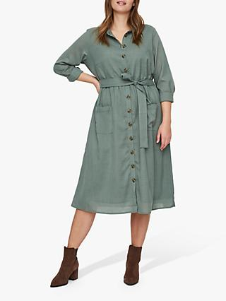 JUNAROSE Curve Lyza Shirt Dress, Laurel Wreath