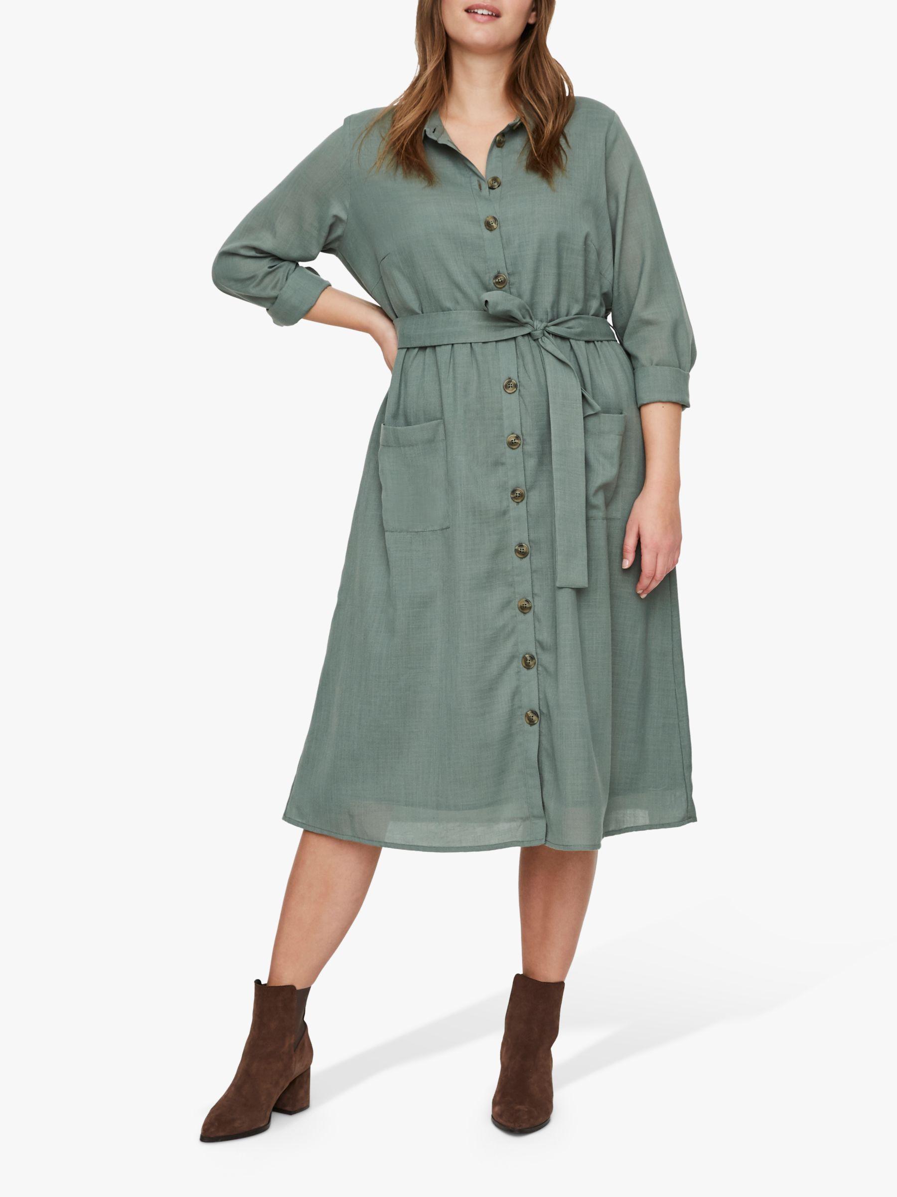 Junarose JUNAROSE Curve Lyza Shirt Dress, Laurel Wreath