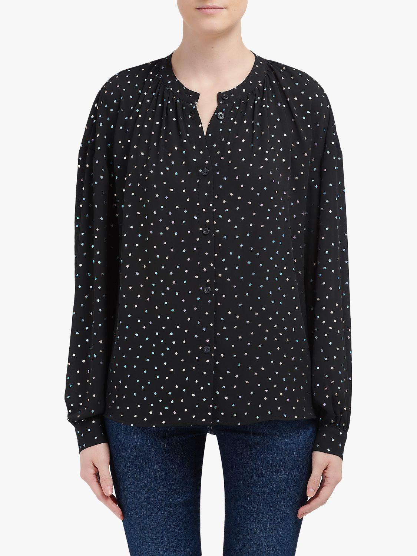 Essentiel Antwerp Essentiel Antwerp Polka Dot Shirt, Black