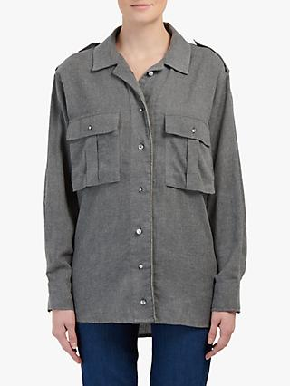 Essentiel Antwerp Flannell Shirt, Belgian Block