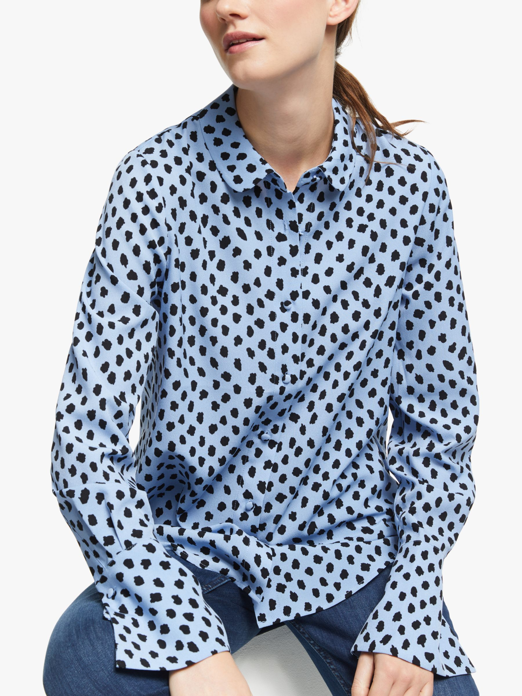 Essentiel Antwerp Essentiel Antwerp Spot Trumpet Cuff Shirt, Chambray