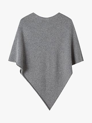 Jigsaw Cashmere Blend Metallic Poncho, Steel