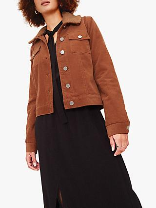 Oasis Borg Collar Cord Jacket, Mid Neutral