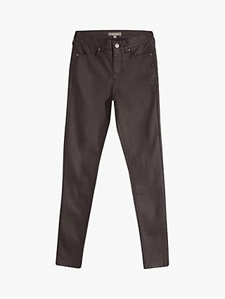 Oasis Coated Lily Skinny Jeans, Dark Brown