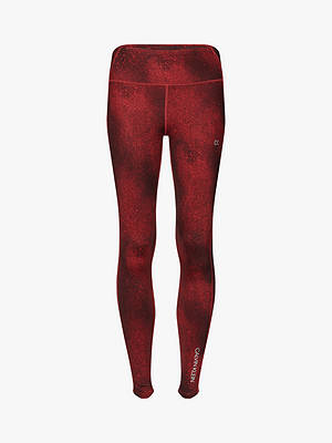 Buy Calvin Klein Performance Galaxy Print 7/8 Leggings, Red, XS Online at johnlewis.com