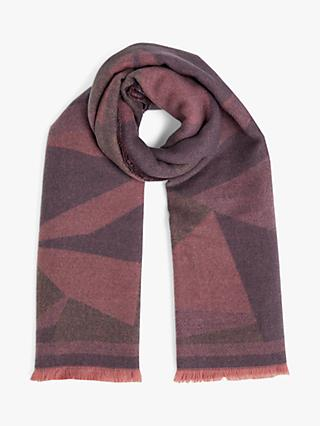 Jigsaw Brushed Colour Block Scarf, Lilac