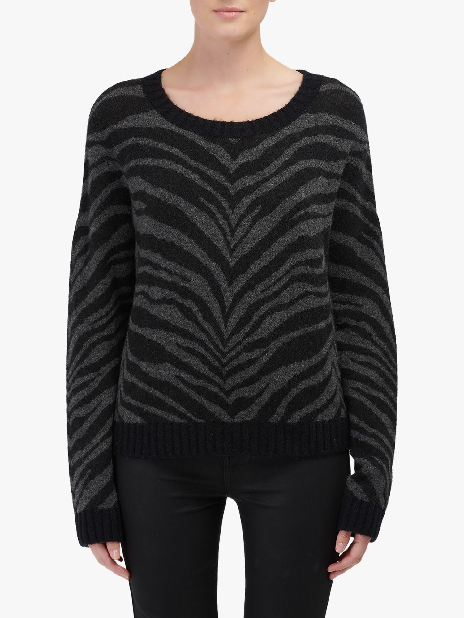 Rails Rails Tiger Stripe Jumper, Charcoal