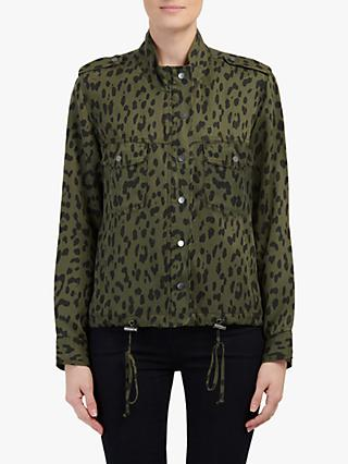 Raills Collins Leopard Print Jacket, Green