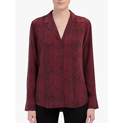 Rails Rebel Python Print Silk Blouse, Red