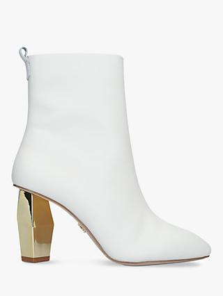 Kurt Geiger London Daxon Gold Heel Ankle Boots