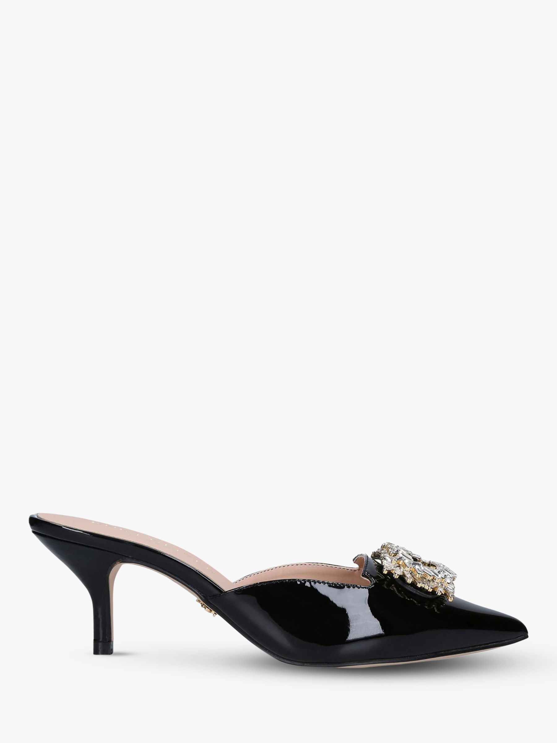 Kurt Geiger Kurt Geiger London Pia Jewel Mule Court Shoes, Black