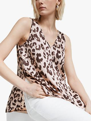 Mother of Pearl Tencel™ Leopard Print Cami, Pink/Multi