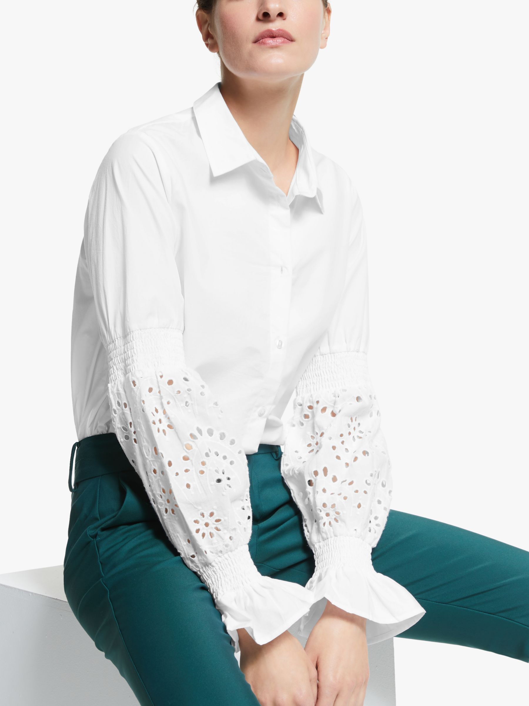 Y.a.s Y.A.S Florence Long Sleeve Shirt, Star White
