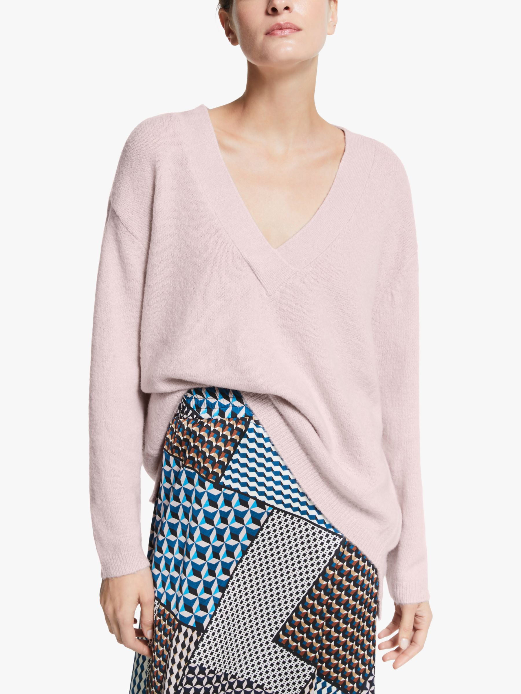 Y.a.s Y.A.S V-Neck Knitted Jumper, Lilac