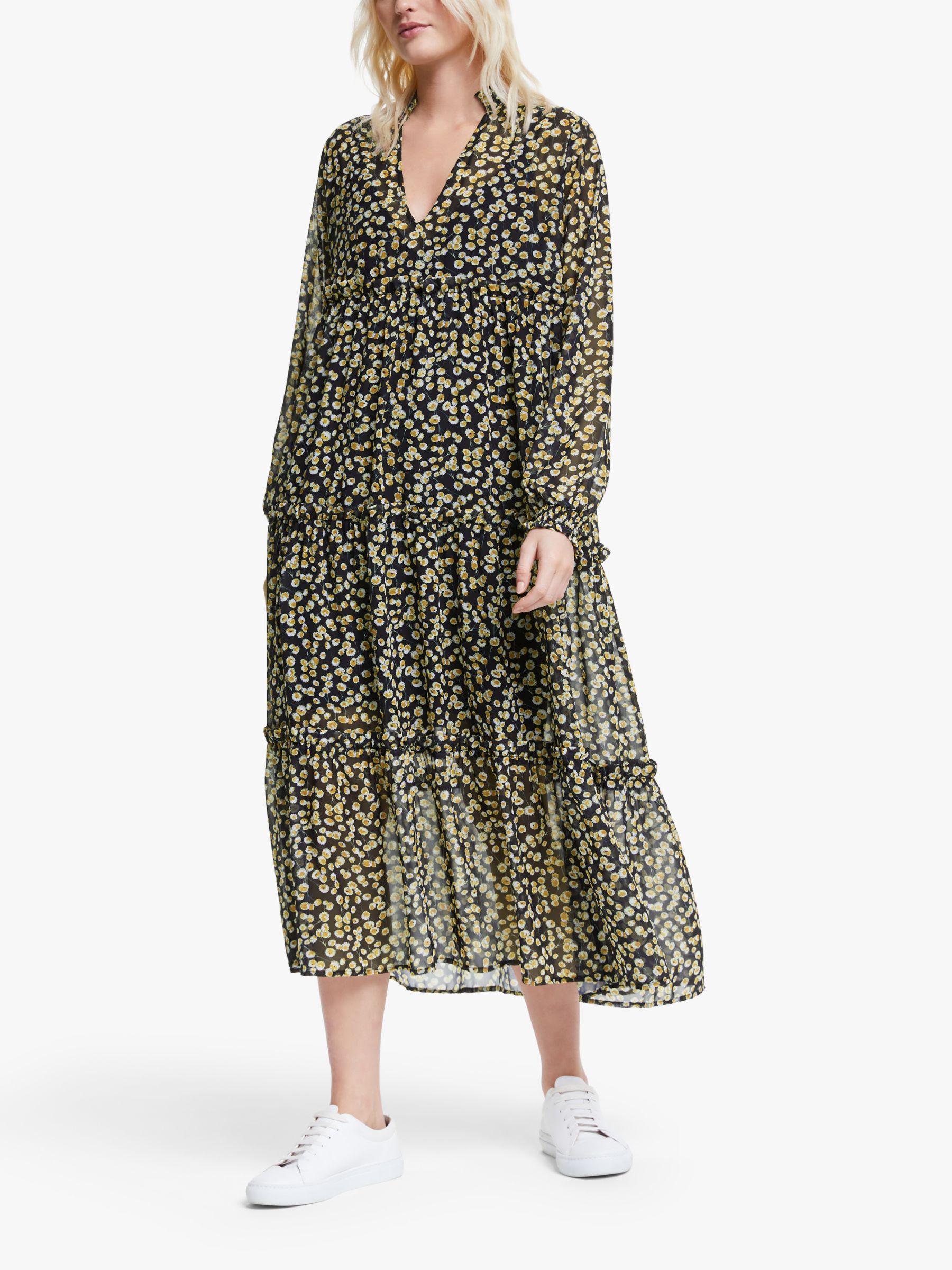 Y.a.s Y.A.S Claris Midi Dress, Black Multi