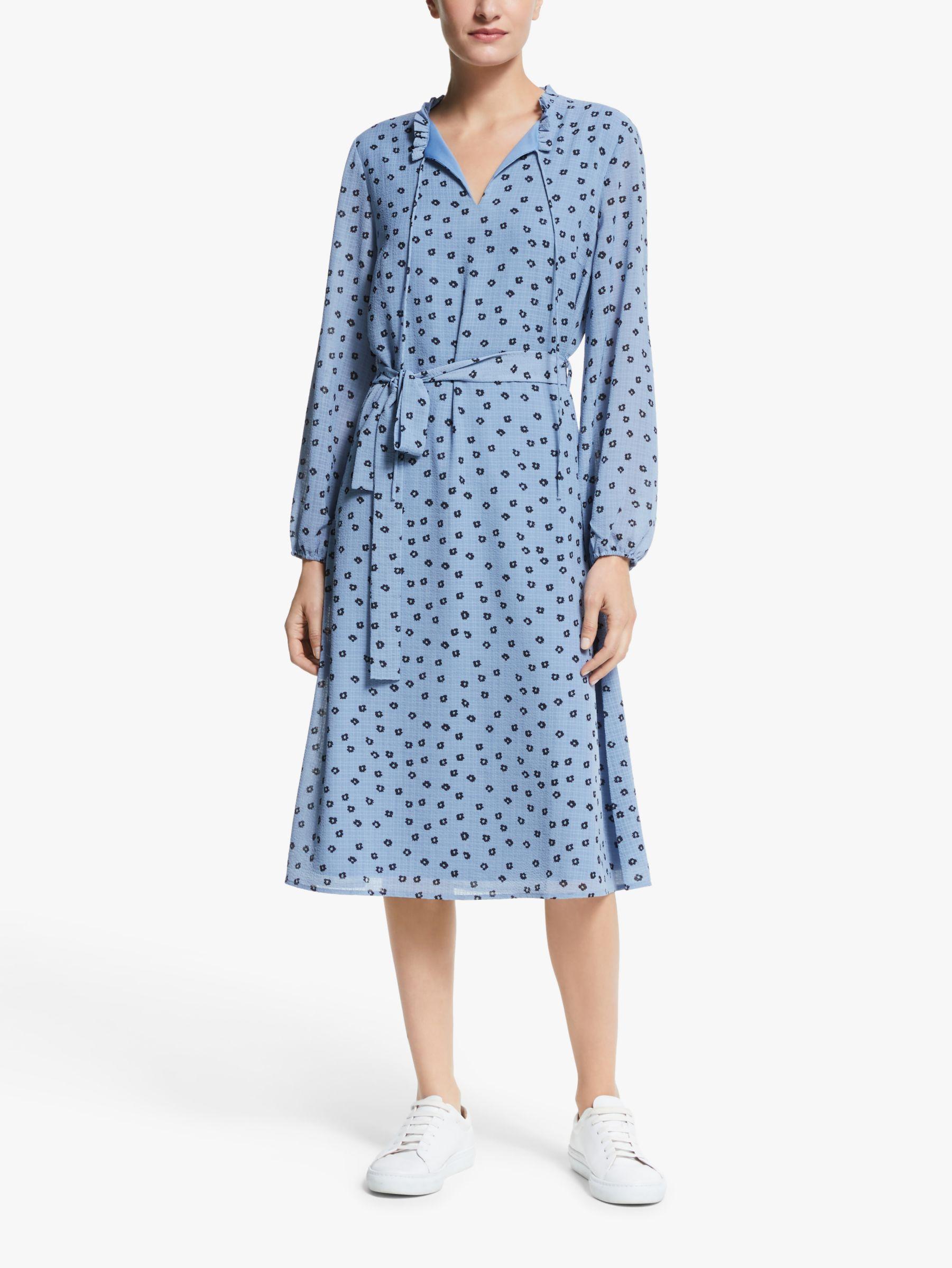 Y.a.s Y.A.S Floral Midi Dress, Dusty Blue