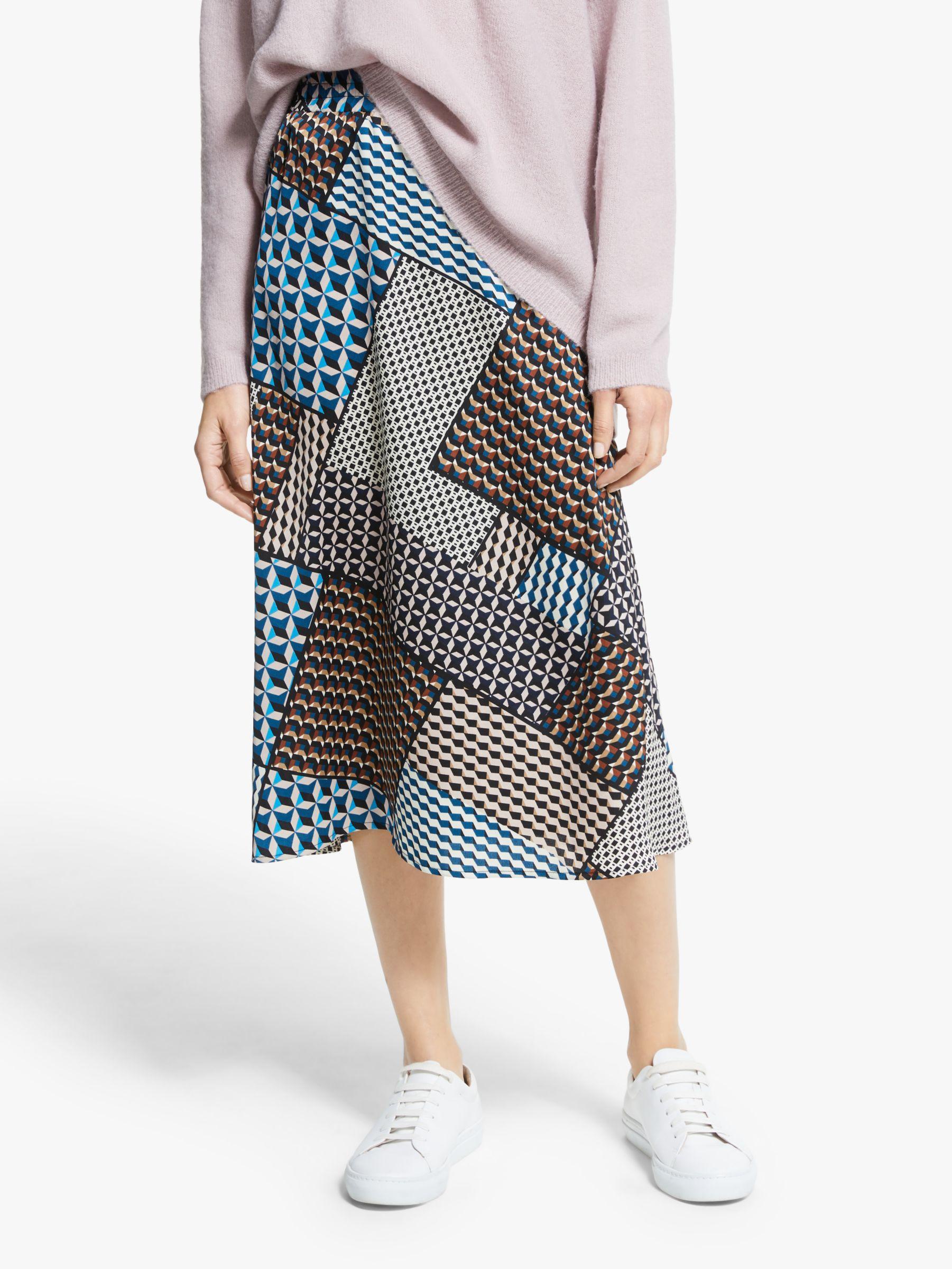 Y.a.s Y.A.S Blocka Midi Skirt, Multi