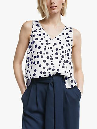 Mother of Pearl Tencel™ Spot Print Cami, Ivory