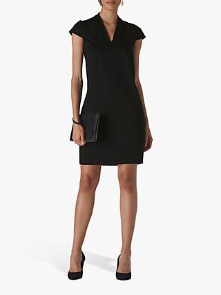 Whistles Ponte Jersey Paige Dress, Black
