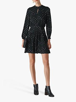 Whistles Millie Star Print Dress, Black/Multi