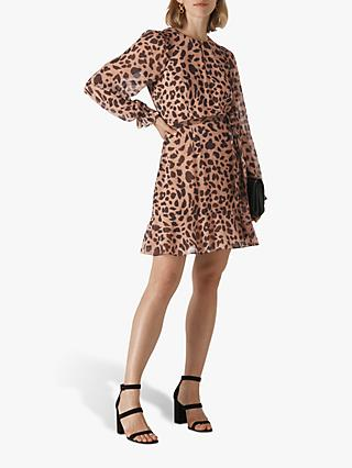 Whistles Brushed Cheetah Dress, Neutral