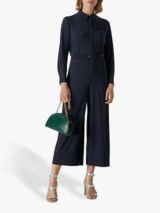 Whistles Tailored Jersey Jumpsuit, Navy