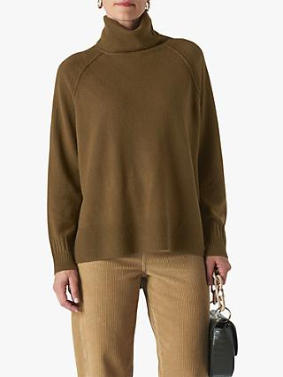 Whistles Cashmere Roll Neck Jumper