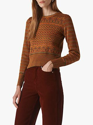Whistles Merino Wool Blend Fair Isle Jumper, Multicolour
