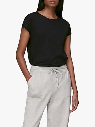 Whistles Minimal Cap Sleeve Cotton Top