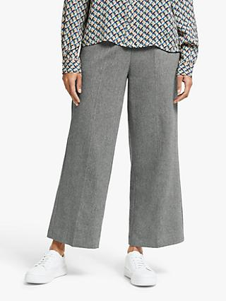 Y.A.S Nana High Waisted Cropped Trousers, Grey