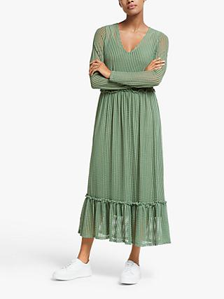 Y.A.S Rosy Long Sleeve Midi Dress, Green