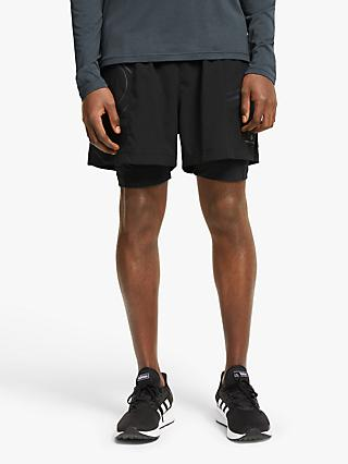 Ronhill Infinity Marathon Twin Running Shorts, All Black