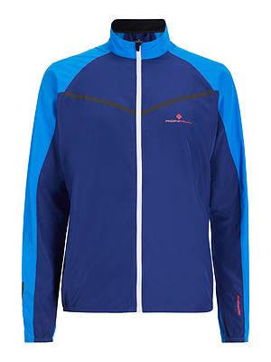 Buy Ronhill Stride Windspeed Men's Running Jacket, Electric Blue/Mid Blue, S Online at johnlewis.com