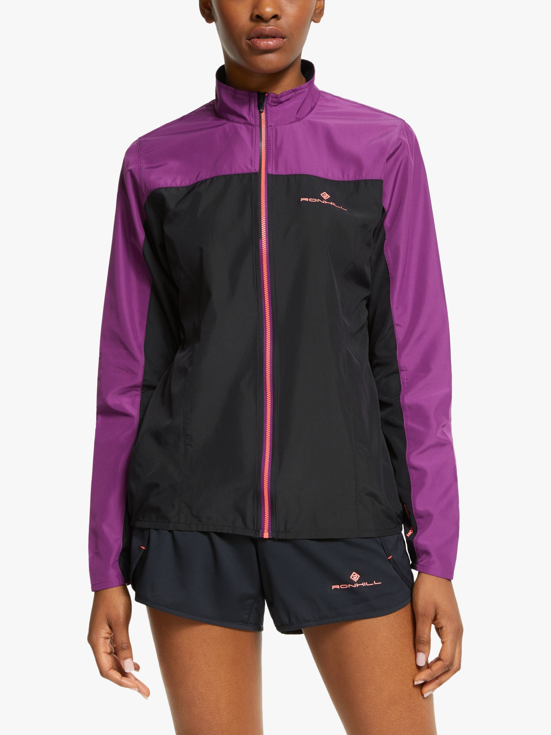 Ronhill Ronhill Stride Windspeed Women's Running Jacket, Black/Grape Juice