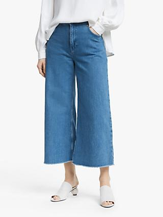Mother of Pearl Wide Leg Organic Cotton Jeans, Indigo