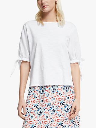 Yerse Tie Sleeve Blouse, White