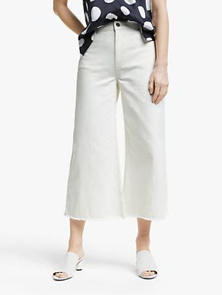 Mother of Pearl Wide Leg Organic Cotton Jeans, White