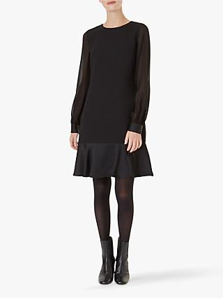Hobbs Gloria Blouson Sleeve Dress, Black