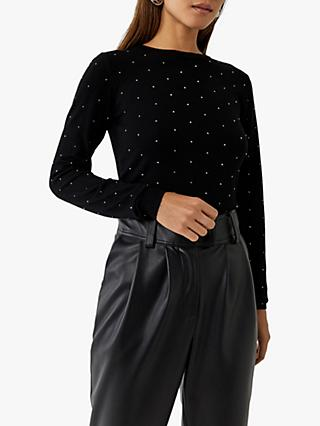 Warehouse Diamante Embellished Jumper