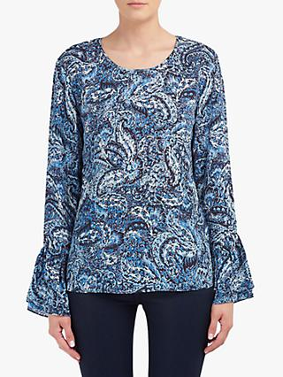 Lily and Lionel Ella Paisley Print Blouse, Blue