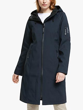 Ilse Jacobsen Hornbæk Full Length Rain Coat, Dark Indigo