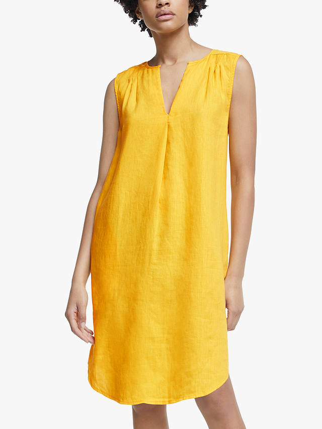 Buy John Lewis & Partners V-Neck Dress, Yellow, 16 Online at johnlewis.com