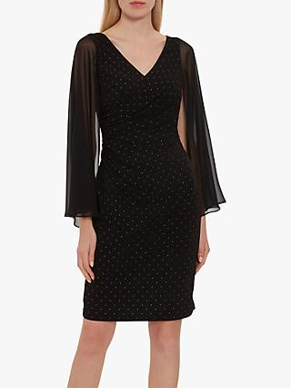 Gina Bacconi Felizia Loose Sleeve Dress, Black