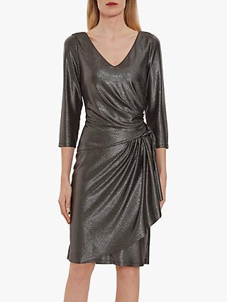 Gina Bacconi Daya Metallic Jersey Dress