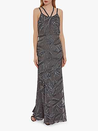 Gina Bacconi Jaima Maxi Dress, Light Grey