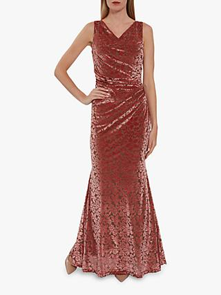 Gina Bacconi Goda Maxi Dress, Coral
