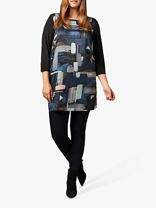Studio 8 Ava Geometric Print Tunic Top, Black/Multi