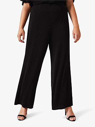 Studio 8 Callie Sparkle Wide Leg Trousers, Black