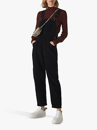 Whistles Cord Dungarees, Black