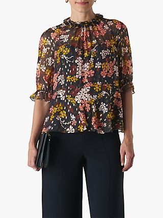 Whistles Clover Floral Blouse, Multi